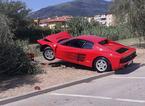 Ferrari contro l'olivo, multati il conducente e la troupe che stava riprendendo le evoluzioni