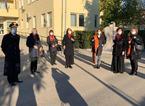 Giornata contro la violenza sulle donne, i carabinieri illuminano di arancione lo stemma araldico