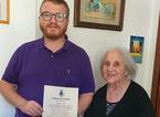 La signora Lina Pucci compie 100 anni, gli auguri del sindaco di Vernio