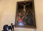 Danneggiato quadro del Cinquecento esposto in palazzo comunale