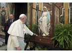 Il pellegrinaggio di Maria fa tappa a Vaiano: arriva in parrocchia l'immagine benedetta da papa Francesco