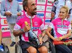 Christian Giagnoni vince la maglia rosa al Giro d'Italia di handbike