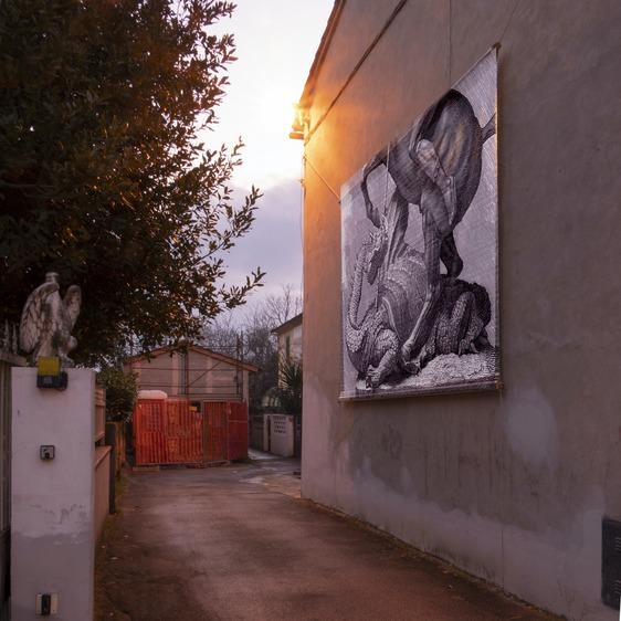 Tre nuove installazioni artistiche in via delle Segherie per il progetto Urban Story