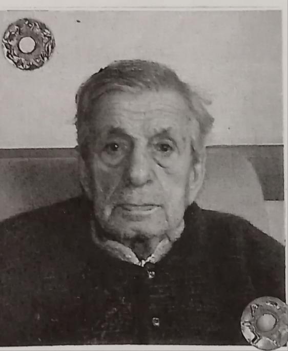 Anpi in lutto per la morte di Giordano Vignolini, partigiano della brigata Storai