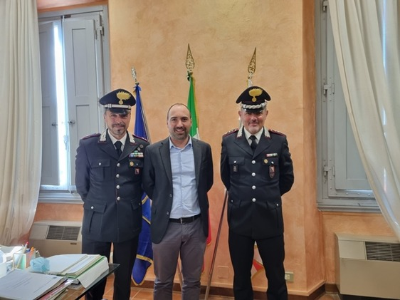 Montemurlo, visita in Comune del nuovo comandante della Compagnia carabinieri di Prato