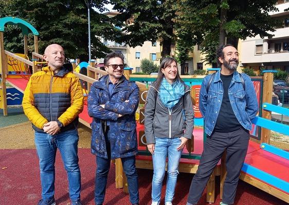 Una nuova area fitness e un miniparco giochi in via Firenze, stamani l'inaugurazione